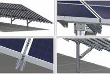 Onderconstructie zonnepanelen / Naast zonnepanelen en omvormers, vormt ook het montage systeem (ook wel onderconstructie genoemd) een essentieel onderdeel van de zonnepanelen installatie. Het rendement dat u behaalt op uw zonnepanelen installatie is voor een deel afhankelijk van de keus voor het montagesysteem