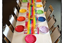 Rainbow kids party