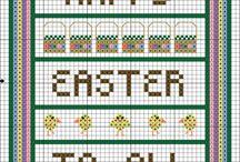 free easter cross stitch patterns