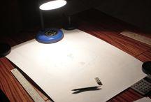 Процессы создания рисунков / Как рисовать, не обладая таким талантом))