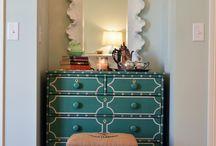 desk cubbie makeover / by callie towles
