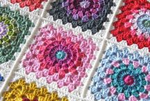 Crochet granny squares patterns / everything you want to know  about granny squares triangles hexagon tutorial  inspirations  photo tutorials videos graphics patterns written  instructions  patterns
