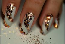 New year manicure / A part of these nails ar made by me
