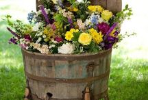 Old Barrel planter