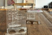 SILHOUETTE / Award Plate Design for Koray Construction Firm.