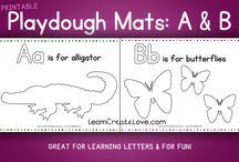 Alphabet Sheets & Playdough Mats
