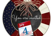4th of July Party Invitations, Gifts and accessories / The Fourth of July Celebrations (Independence Day) Fireworks, parades, barbecues, carnivals, fairs, picnics, concerts, baseball games and family reunions.