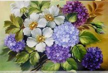 Pinturas en flores