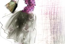 Fashion illustrations by Tatiana Teni