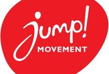 Jump / Woorden en beelden die 't gevoel achter Jump laten zien:  If we all jump, we will move the world !