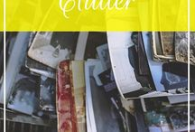 Conquering Clutter / Get organized, get rid of clutter, throw out junk, enjoy what you have, beating clutter, creating a clutter-free home