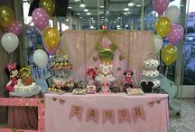 Xanthi's 2nd Birthday party / Minnie Mouse pink and gold