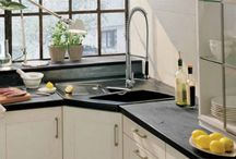 kitchen, laundry and bath