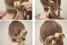 Haar / vlechten en opsteken van lang haar