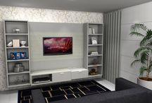 Sala - Desejo Decoração / Parte de nossa coletânea de ambientes planejados. Acesse nosso site: http://www.desejodecoracao.com.br/