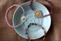 Genuine Gemstone Bead and Moroccan Charm Bracelets / This funky vibe and international flavor is just perfect for festival season.