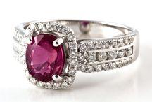 Ruby / Decorative ruby gemstones and jewellery