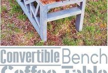 DIY SOFA TEA TABLE
