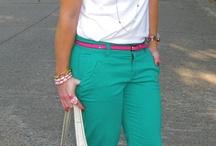 Pants: Green