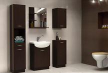 Kúpeľne / Moderné kúpeľne v rovných líniach a mnohých koloroch, ktoré spestria každodenné úpravy.