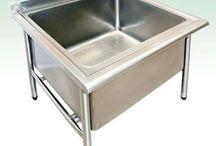 Pia tanque em aço inox / A pia tanque em aço inox é um produto que vem sendo muito utilizado devido as suas vantagens com relação a outras pias.