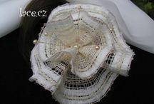 LACE украшения / подвески-серьги-галстуки, объёмные цветы коклюшечного кружева
