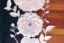 Flores e Artesanatos de Papel