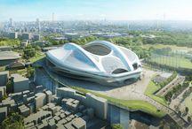 Estadios / Modernos proyectos de estadios de fútbol, olímpicos, etc, realizados por importantes firmas de arquitectos del siglo 21.