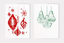 DesignLSM Christmas Cards / The DesignLSM studio have been getting in the festive spirit this year by creating our own personalised screen printed christmas cards to send out to our lovely clients and friends.