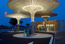 petrol station