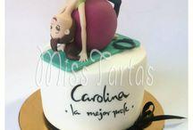 pasteles fondant con figuras