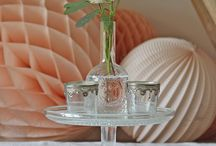 crystal and glass wedding flowers and styling