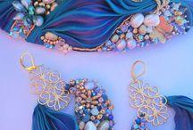 Shibori silk jewellery