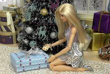 Holiday Barbie Scenes