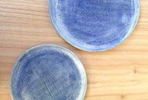 Hecho a mano / Bandejas/platos de cerámica.