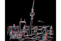 Berlin in 3-D / Stereoscopic Berlin Motives in 3-D. Please use a red and blue anaglyp glasses.