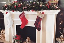 Christmas Mantle decoration  fireplace