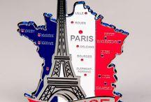 Metal Fridge Magnets: Countries' Maps