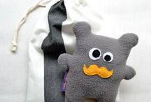 Moustached plushies