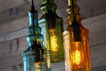 Bottles and light