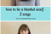Style // blanket scarf