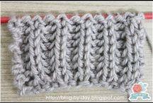Pontos em trico , como fazer