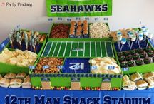 Seahawks-Game Day Food & Drinks / Game Day Idea's   / by Linda Finni