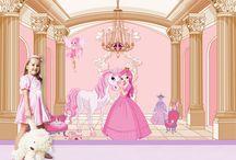 Princess Wall Mural / Princess Wall Mural - a Fantasy Fairytale Wonderland