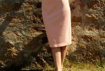 Handmade High Waist Midi Skirt