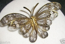 Gorgeous Sterling Silver Large Butterfly Pin, Mint Condition.