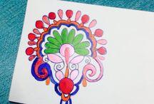 Art / Hand painted Envelope