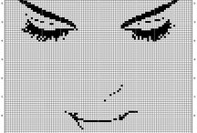 Cross stitch - Monochrome