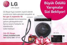 LG / 04 - 05 Nisan #Kutup Ankamall LG mağazalarında büyük ödülden birini kazanma şansı ve sürpriz hediyeler sizleri bekliyor. Mutlu hafta sonları :)