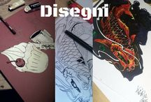 my works / hand made t shirts and drawings